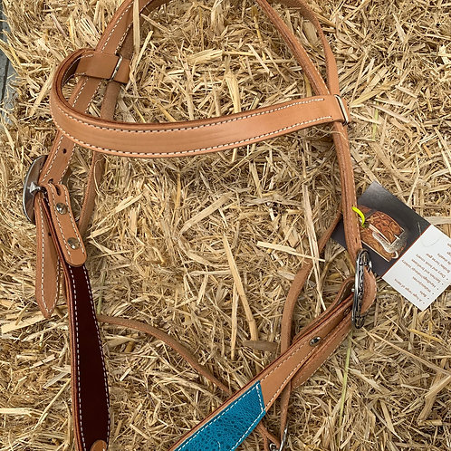 Hand Crafted Cane Toad Trim bridle