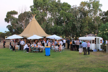 private property marquee wedding