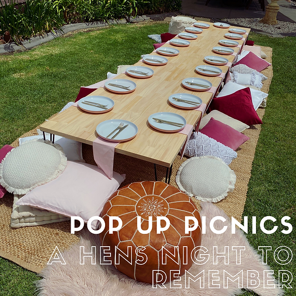 A HENS NIGHT TO REMEMBER POP UP PICNICS