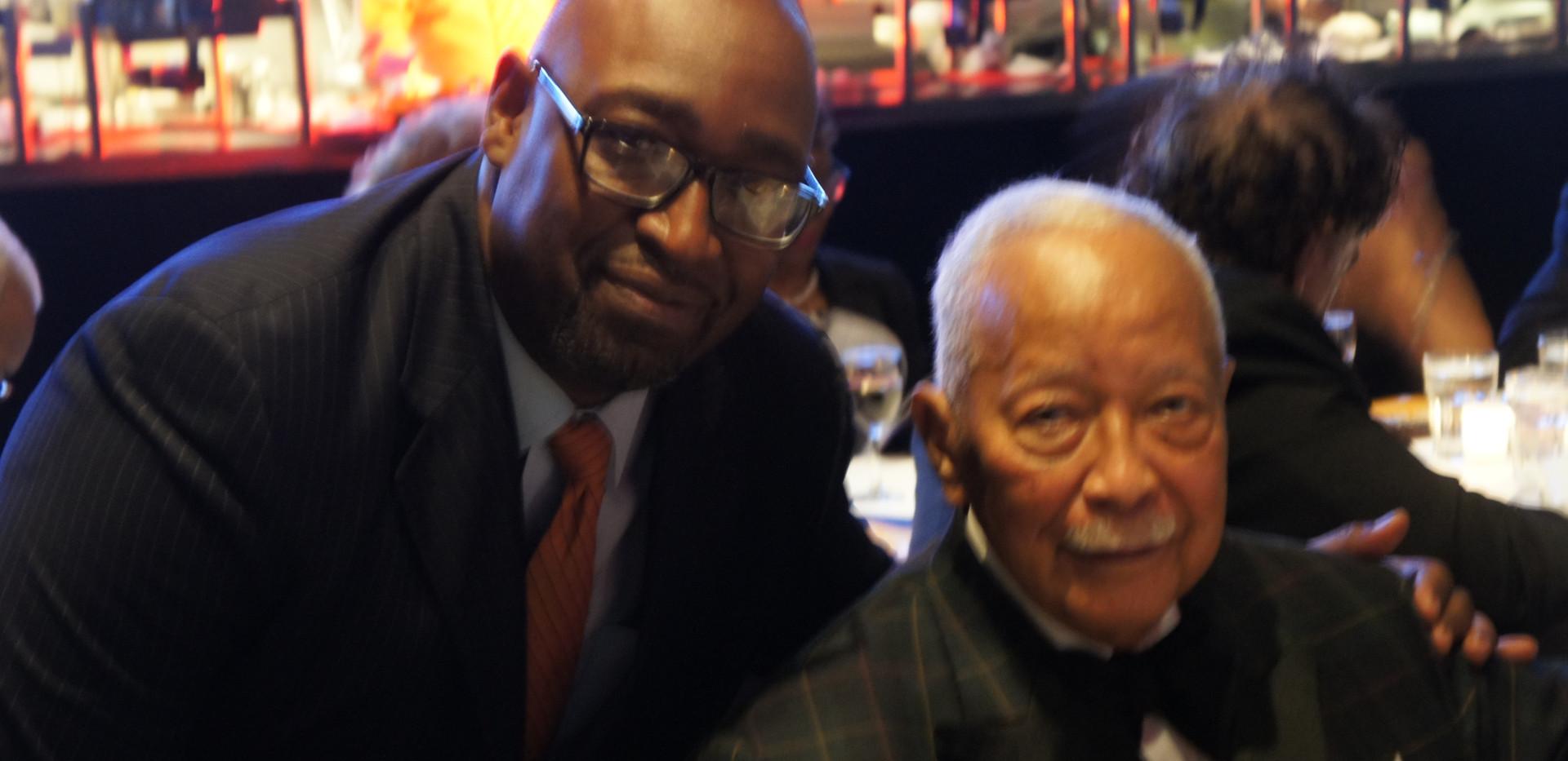 Manhattan Jaspers Hall of Famer Ed Lawson & Mayor Dinkins