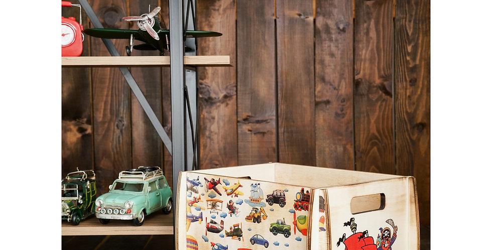 wooden kids box