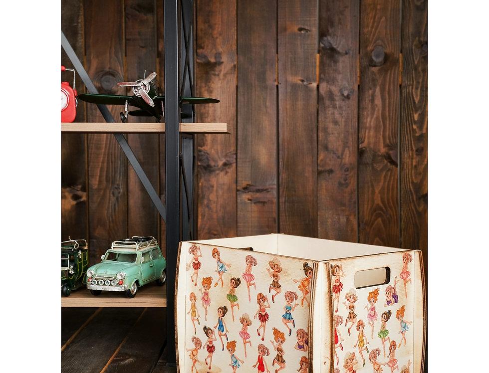 Multi-purpose decorative wooden demounted box