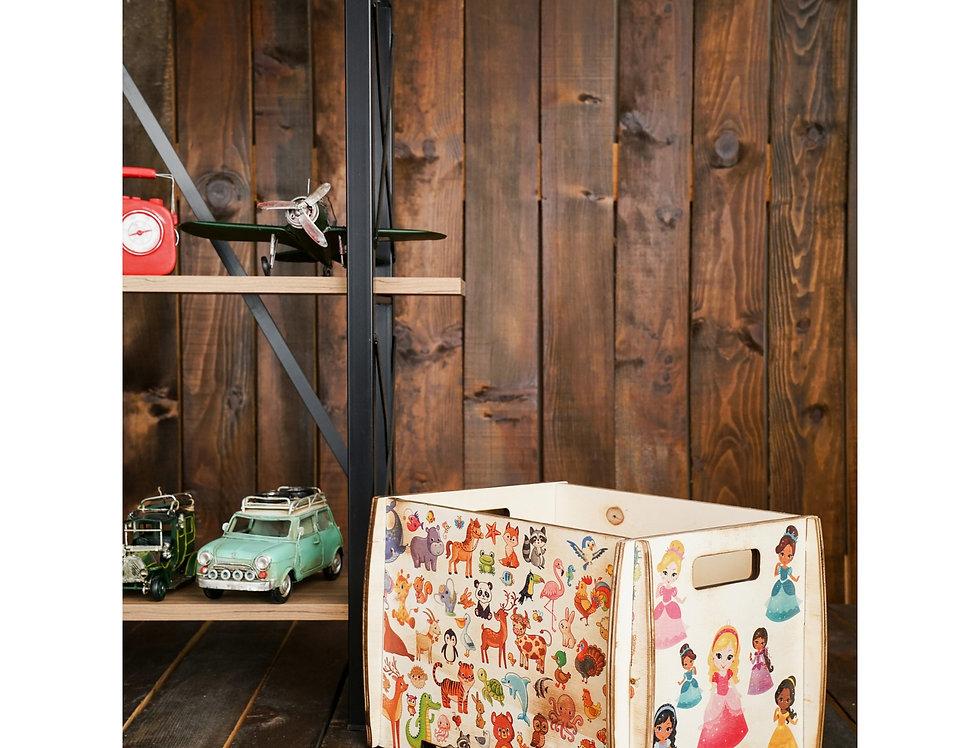 Multi-purpose decorative wooden demounted boxs long play