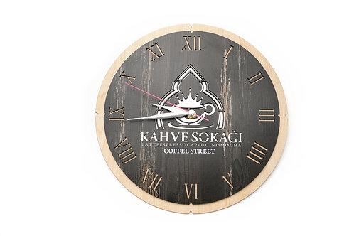 Ahşap Promosyon Duvar Saati 24.00TL+KDV