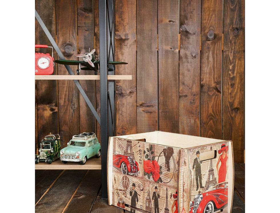 wooden long play box