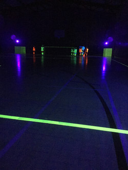 Glow in the dark football party