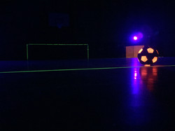 Close up of the LED football