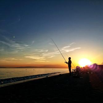 Sunset in Nea Plagia