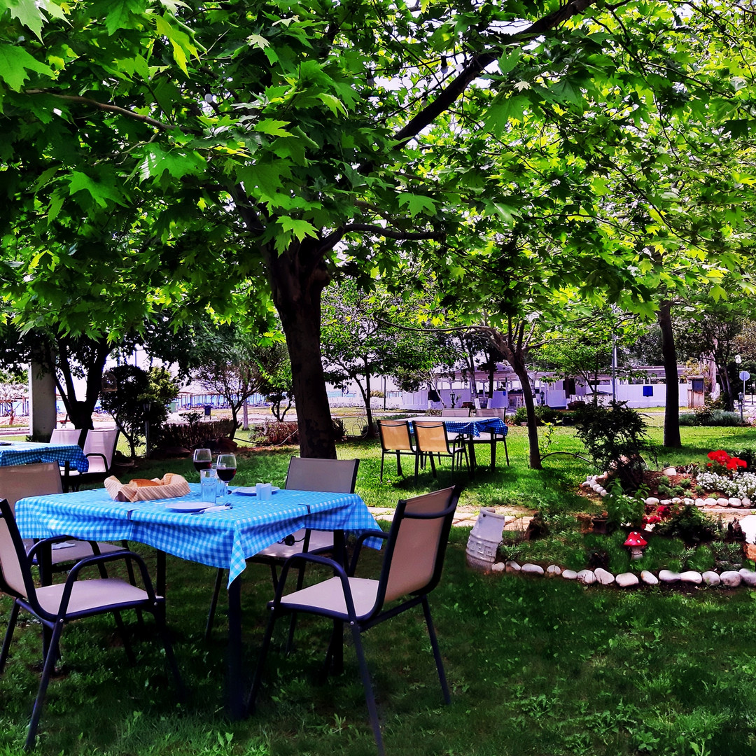 The garden of Kochyli Taverna