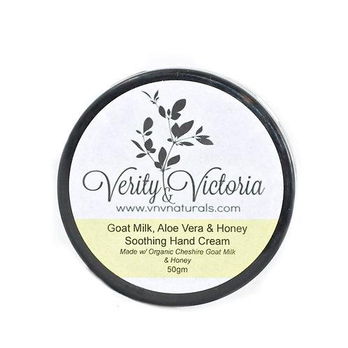 Goat Milk, Aloe Vera & Honey Soothing Hand Cream