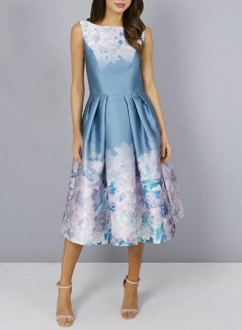Karlene Blue Floral Dress