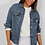 Thumbnail: Blue Oversized Denim jacket
