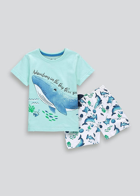 Boys Whale Pyjama Set