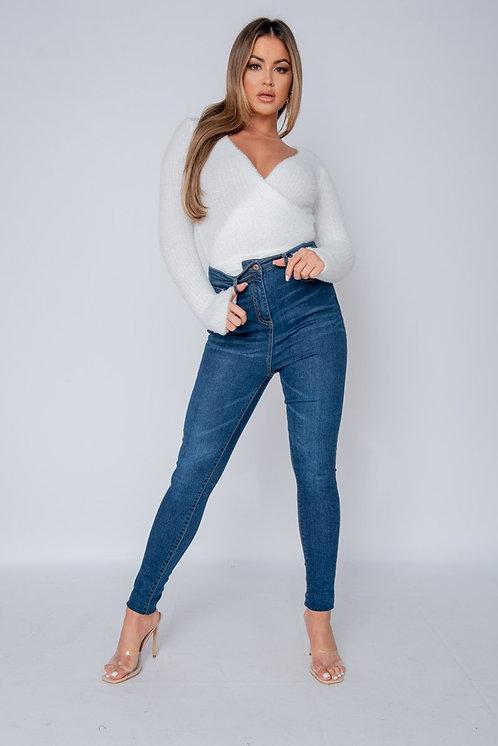 Indigo High Waisted Jeans