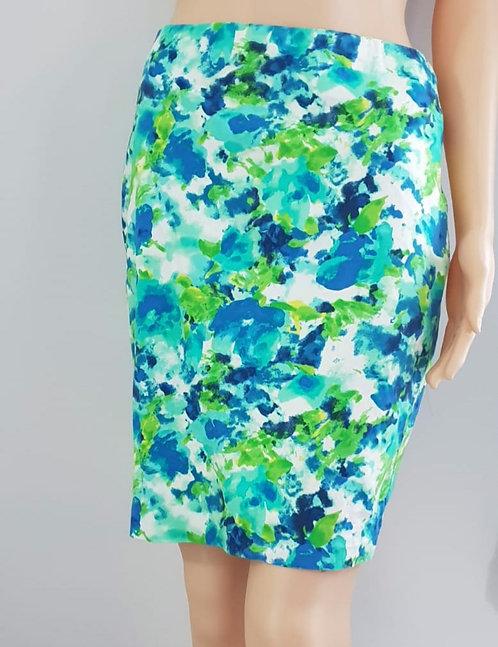Abstract pencil skirt