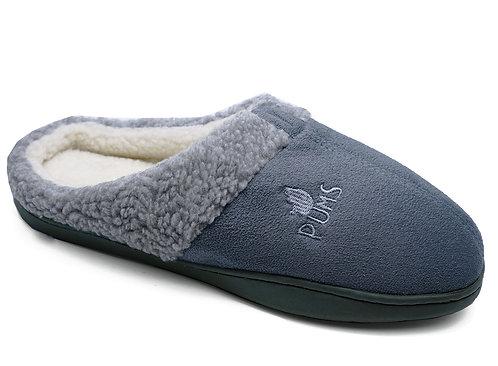 Grey morning slippers