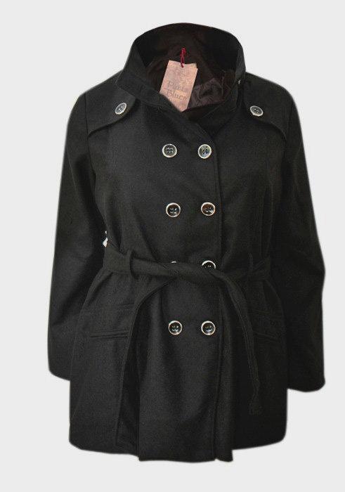 Plus Size Black Coat