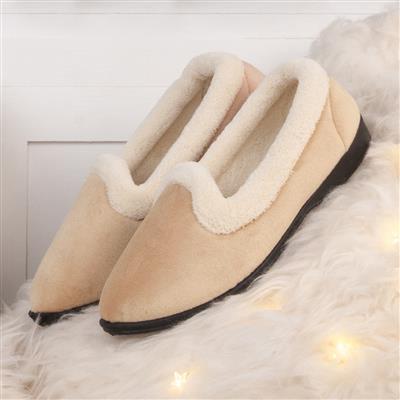 Beige full slippers