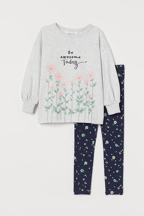 Girls floral set