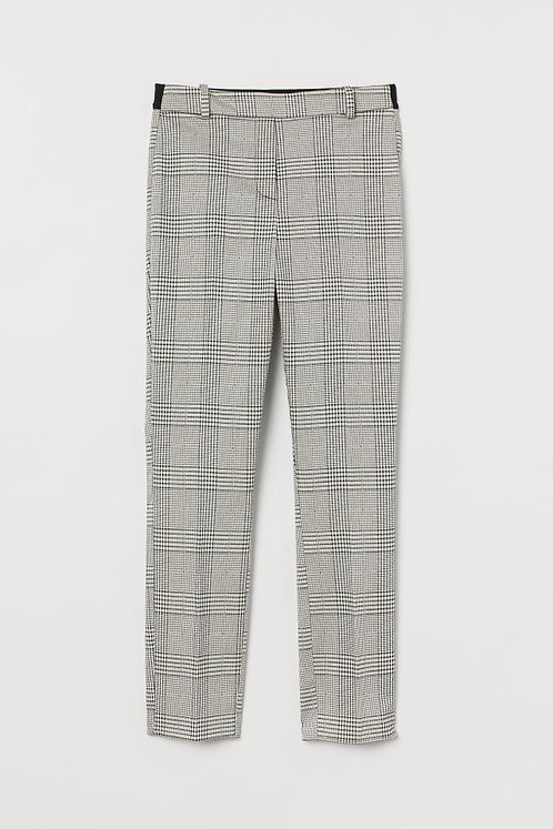 Cream/Black Check Trousers