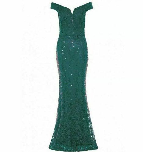 Green Ocassion Maxi Dress