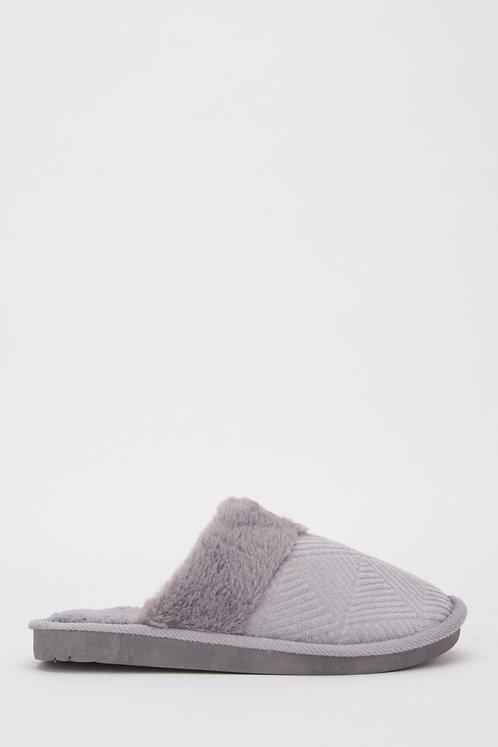 Fluffy Grey slippers