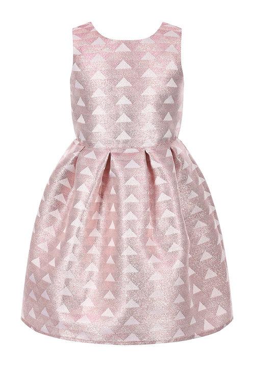 Girls pink metallic dress