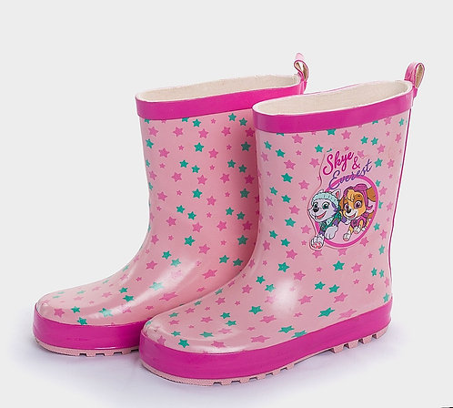 Pink character wellies