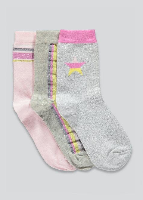 Girls Socks 3pk