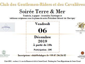 Soirée Terre & Mer - vendredi 06 décembre 2019