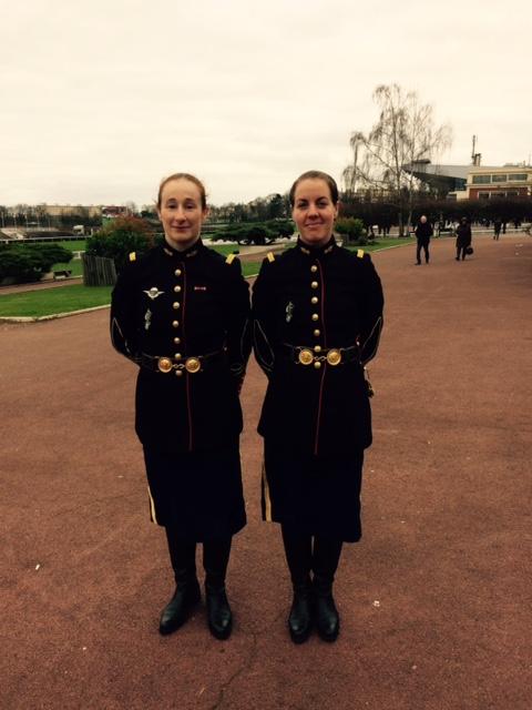 Céline Valade et Marjorie Bequerel, élèves à l'EOGN Ecole des Officiers de Gendarmerie Nationale