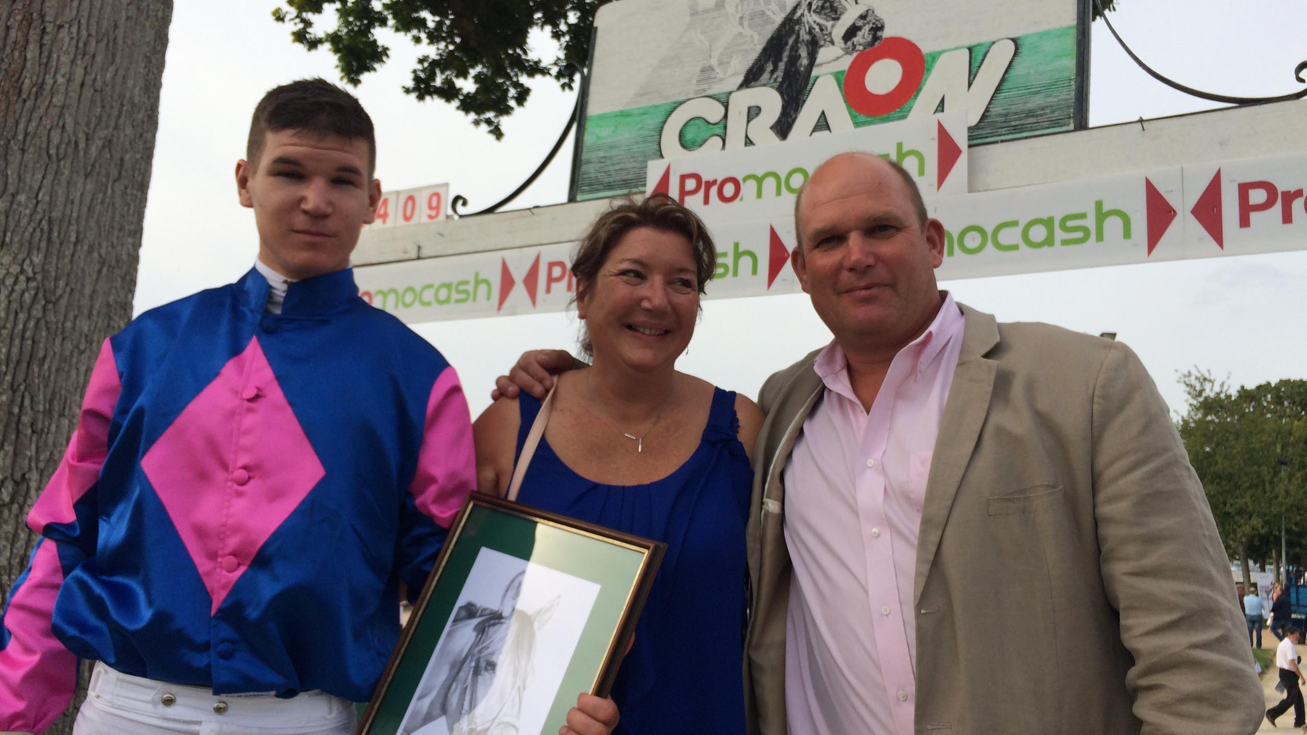 Guillaume Viel et ses (heureux) parents : succès sur toute la ligne dans le Prix Léon Lecerf
