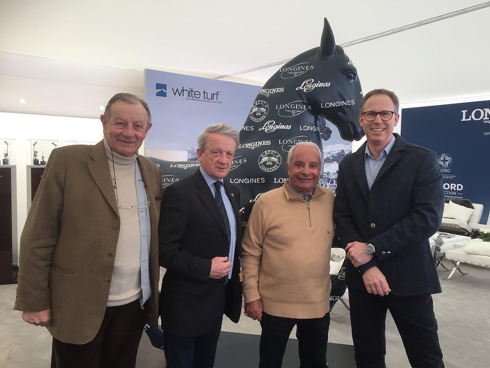 Guy Henrot, Gérard de Chevigny, Yves Saint-Martin et Christophe Jeanneret (Directeur Longines Suisse)