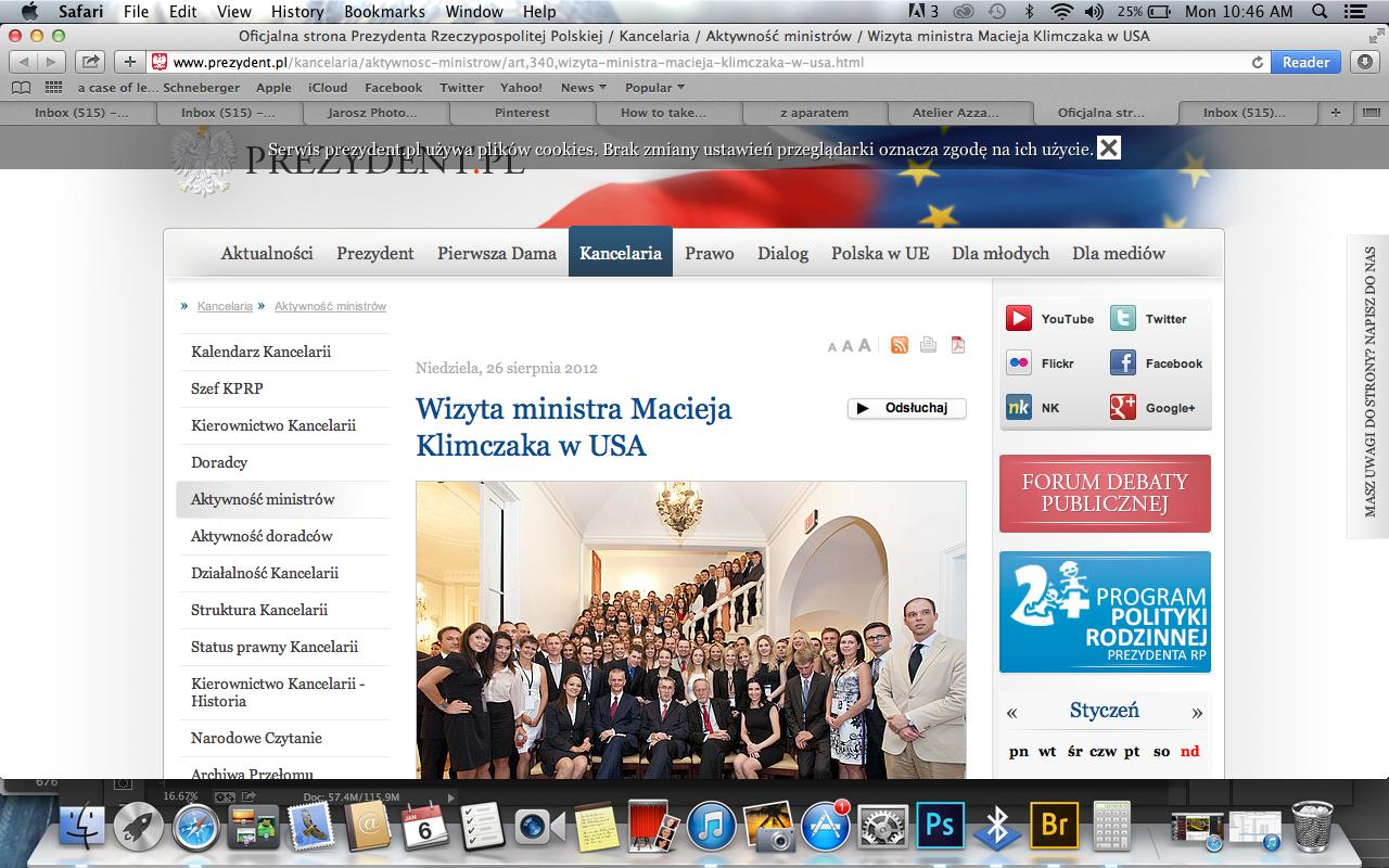 President of Poland's Websitte