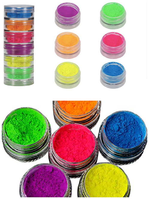 Kit Pigments Neon 6 couleurs