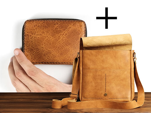 Alex Postman Bag + Elya Zipper Wallet
