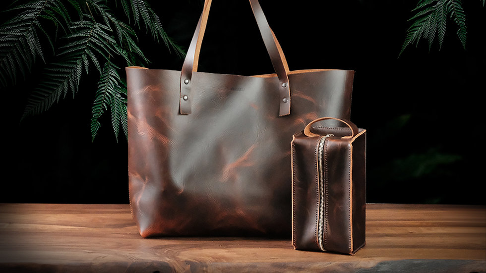Rhonda Tote Bag + Bruno Care Bag / Jungle