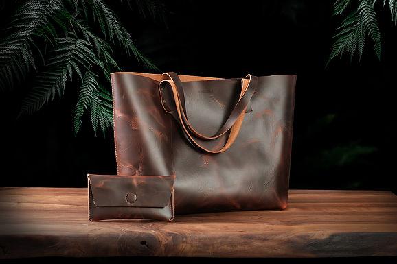 Rhonda Tote Bag + Nola Wallet / Jungle
