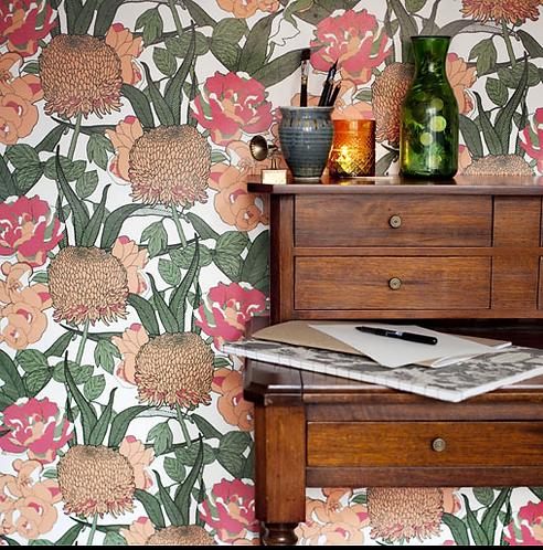 Abigail Borg Floral Wallpaper