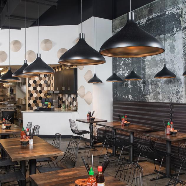 Magasin Kitchen restaurant wallpaper install