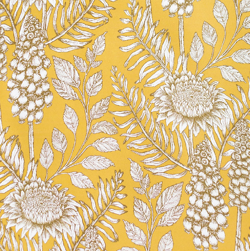 Abigail Borg Muscari Yellow Wallpaper