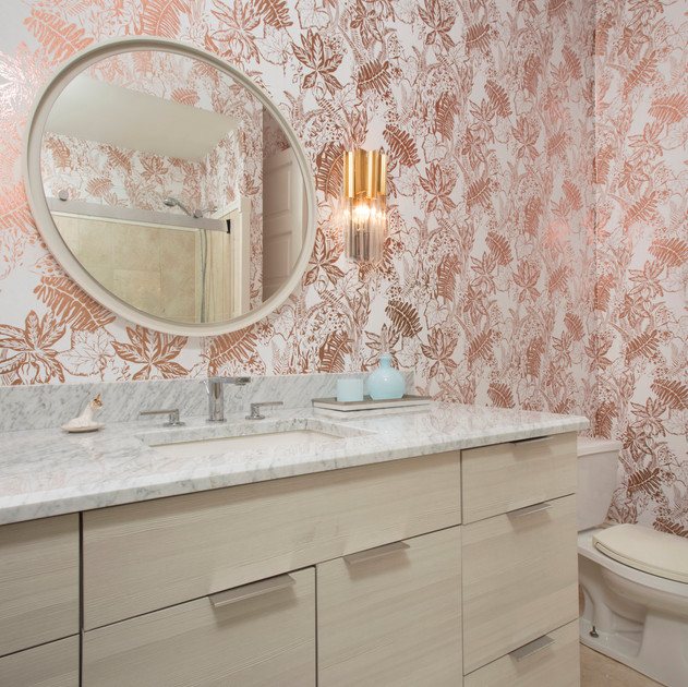 Erica Wakerly metallic palm wallpaper