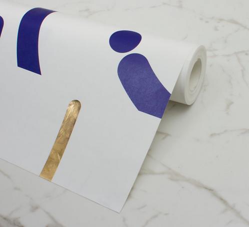 Custhom Offset Blue Wallpaper