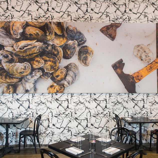 restaurant wallpaper install Toups South