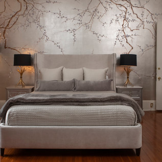 DeGourney handpainted luxe wall mural