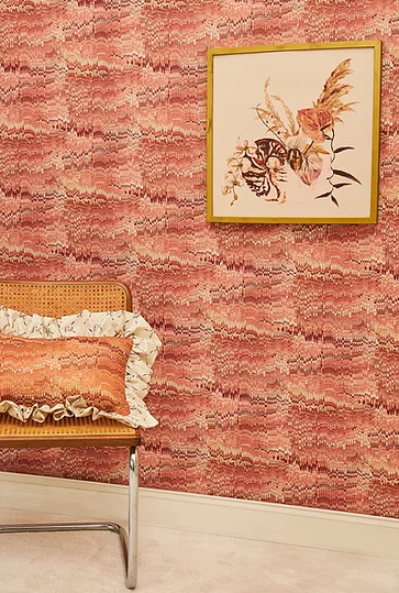 Poodle and Blonde 1970 Pink Wallpaper