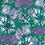 Abigail Borg Floral Teal Wallpaper