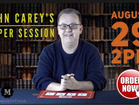 "Magician John Carey and ""Carey Super Sessions interview"" on BasicsOfMagic.com"