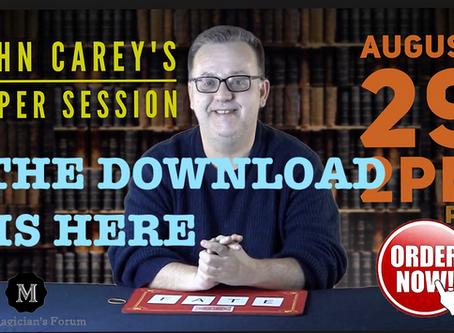 Magician John Carey Super Session Download READY!