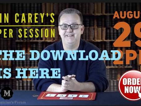 Magician John Carey Super Session Download READY!